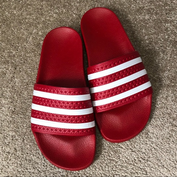 info for d279d 1c232 adidas Other - Red adidas slides